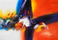 Picture of Abstract - New York sailing journey d89991 60x90cm abstraktes Ölgemälde handgemalt