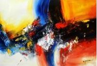 Picture of Abstract - clash of colors d90602 60x90cm abstraktes Ölgemälde
