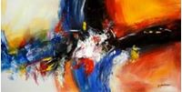 Picture of Abstract - clash of colors f90774 60x120cm abstraktes Ölgemälde