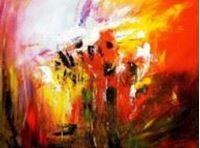 Picture of Abstract - Fireworks i90725 80x110cm exzellentes Ölgemälde