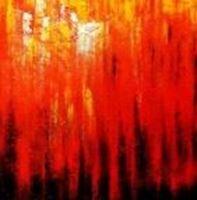Picture of Abstract - Legacy of Fire III m90866 120x120cm abstraktes Ölbild handgemalt