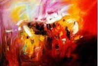 Picture of Abstract - Fireworks p90915 120x180cm exzellentes Ölgemälde