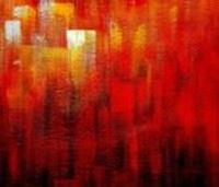 Picture of Abstract - Legacy of Fire III c91093 50x60cm abstraktes Ölbild handgemalt