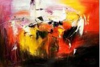 Picture of Abstract - Fireworks d91182 60x90cm exzellentes Ölgemälde
