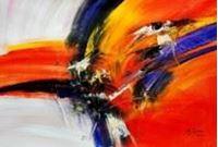Picture of Abstract - Impact study d91183 60x90cm abstraktes Ölgemälde