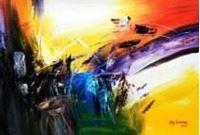 Picture of Abstract - Impact study d91186 60x90cm abstraktes Ölgemälde