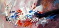 Picture of Abstract - Butterflies f91285 60x120cm modernes Ölbild handgemalt