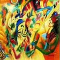 Picture of Wassily Kandinsky - Komposition VII g91296 80x80cm bemerkenswertes Ölgemälde