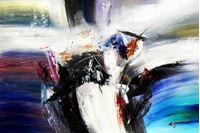 Picture of Abstract - Impact study d91700 60x90cm abstraktes Ölgemälde
