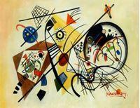 Picture of Wassily Kandinsky - Querlinie a92105 30x40cm exzellentes Ölgemälde