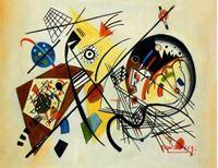 Picture of Wassily Kandinsky - Querlinie a92106 30x40cm exzellentes Ölgemälde