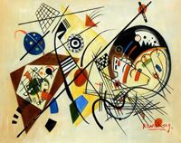 Picture of Wassily Kandinsky - Querlinie b92140 40x50cm exzellentes Ölgemälde