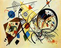 Picture of Wassily Kandinsky - Querlinie b92141 40x50cm exzellentes Ölgemälde