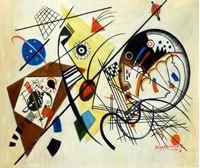 Picture of Wassily Kandinsky - Querlinie c92162 50x60cm exzellentes Ölgemälde