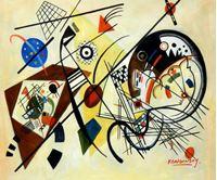 Picture of Wassily Kandinsky - Querlinie c92167 50x60cm exzellentes Ölgemälde