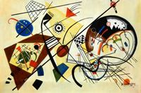 Picture of Wassily Kandinsky - Querlinie d92235 60x90cm exzellentes Ölgemälde