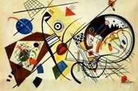 Picture of Wassily Kandinsky - Querlinie d92287 60x90cm exzellentes Ölgemälde