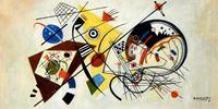 Picture of Wassily Kandinsky - Querlinie f92311 60x120cm exzellentes Ölgemälde
