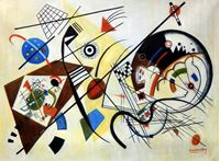 Picture of Wassily Kandinsky - Querlinie k92406 90x120cm exzellentes Ölgemälde