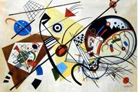 Picture of Wassily Kandinsky - Querlinie p92461 120x180cm exzellentes Ölgemälde